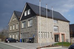 Rathaus Hallenberg Holzfenster Rückseite